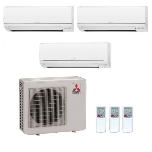 Mitsubishi Electric Air Conditioning MXZ-4D72VA 3 x 3.5Kw MSZ-SF35VA Multi Room Wall Air Conditioning A+ 240V~50Hz